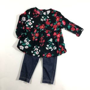 Carters baby girl fall floral two piece set 6mos